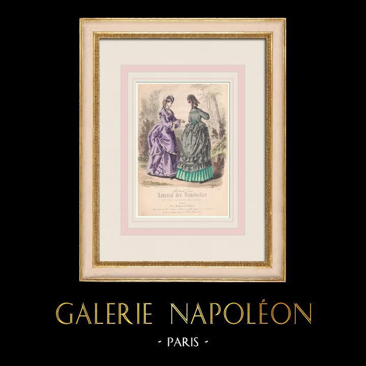 Antique Prints & Drawings   Fashion Plate - Paris - Maison Laure   Intaglio print   1855