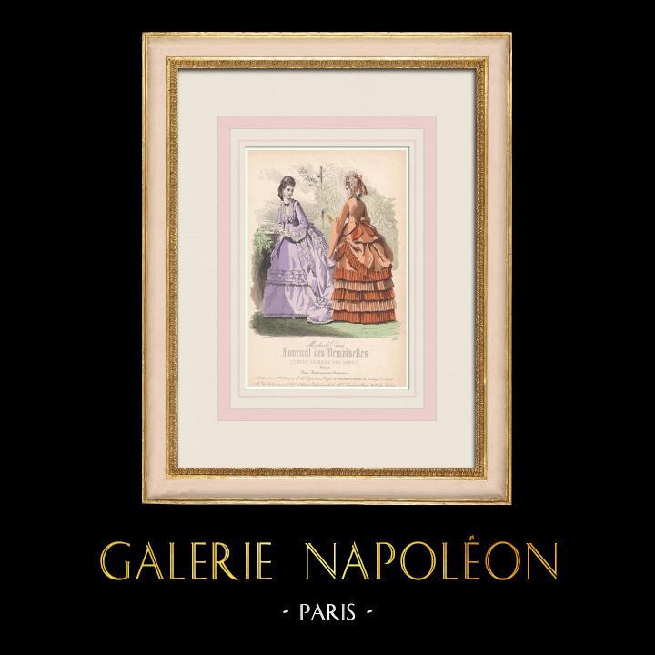 Grabados & Dibujos Antiguos   Grabado de Moda - París - Maison Laure - Grand Marché Parisien   Grabado en talla dulce   1855