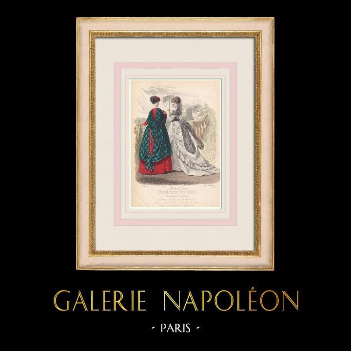 Gravures Anciennes & Dessins | Gravure de Mode - Paris - Mme Bricard - Lemonnier | Taille-douce | 1855