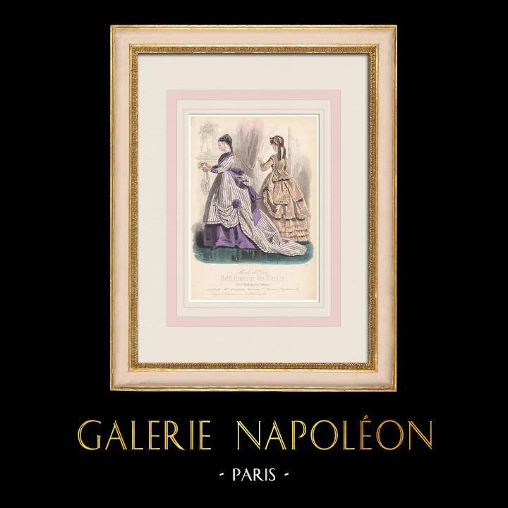 Grabados & Dibujos Antiguos | Grabado de Moda - París - Mme Mallard - Parfumeries de Faguer | Grabado en talla dulce | 1855