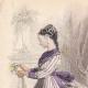 DETALLES 01 | Grabado de Moda - París - Mme Mallard - Parfumeries de Faguer