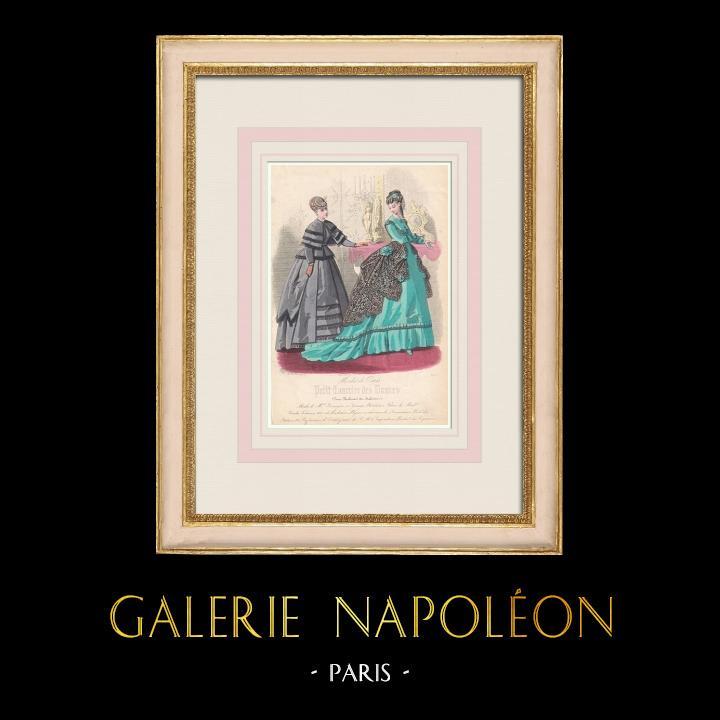 Grabados & Dibujos Antiguos   Grabado de Moda - París - Mme Berangere - Lemonnier   Grabado en talla dulce   1855
