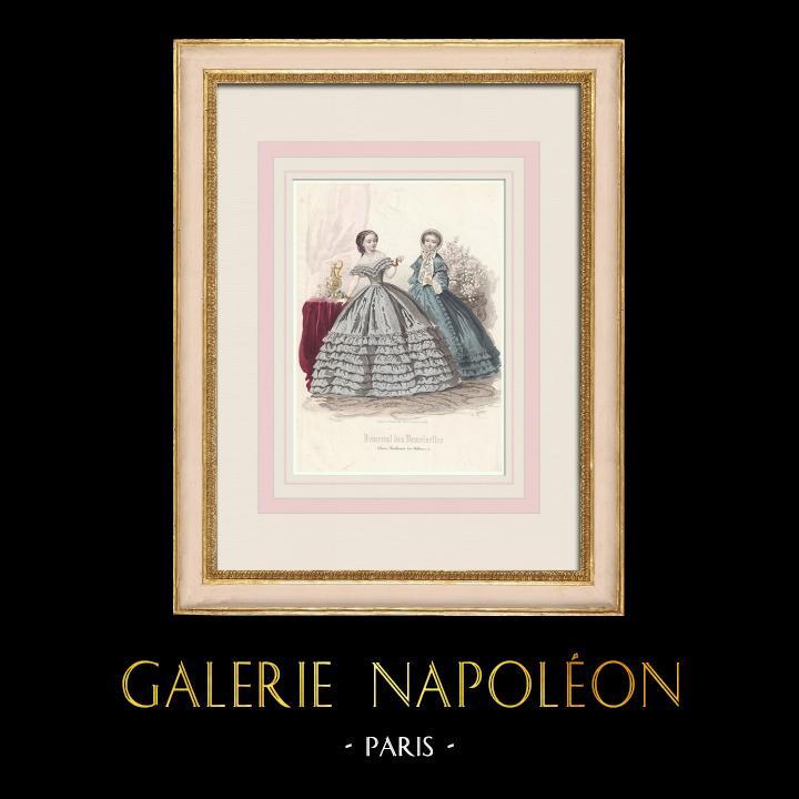 Antique Prints & Drawings | Fashion Plate - Paris - Avril 1860 | Intaglio print | 1860