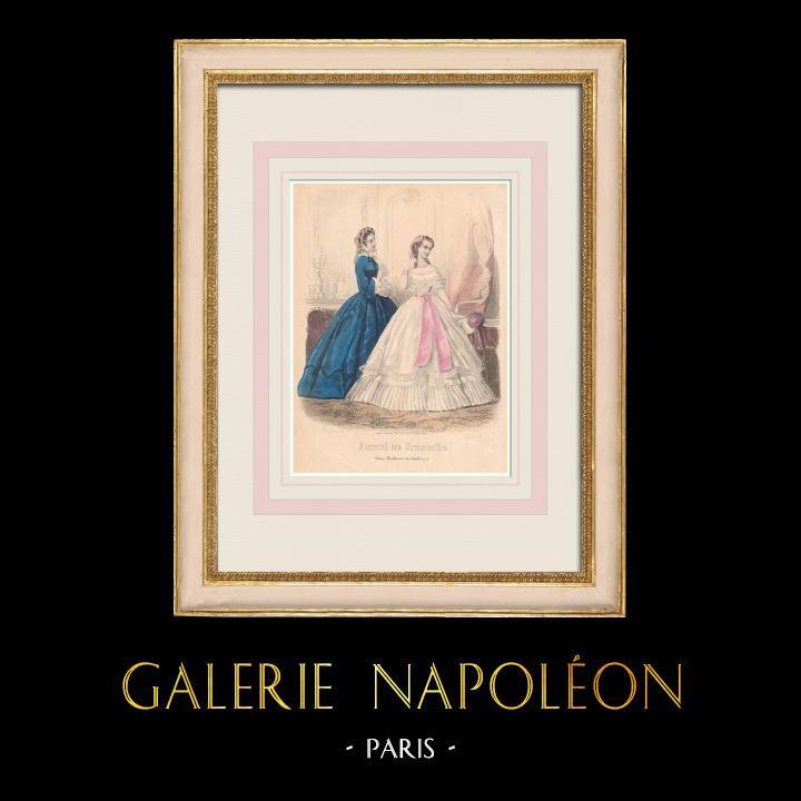 Antique Prints & Drawings | Fashion Plate - Paris - Avril 1862 | Intaglio print | 1862