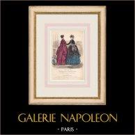Grabado de Moda - París - Mme du Riez  - Maison de Baisieux