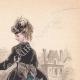 DÉTAILS 04 | Gravure de Mode - Paris - Mme du Riez  - Maison de Baisieux