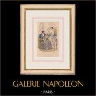 Gravura de Moda - Paris - 1849 - Le Conseiller des Dames - 169 Rue Montmartre