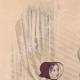 DÉTAILS 01   Gravure de Mode - Paris - 1849 - Le Conseiller des Dames - 169 Rue Montmartre