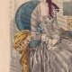DÉTAILS 02   Gravure de Mode - Paris - 1849 - Le Conseiller des Dames - 169 Rue Montmartre