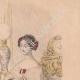 DÉTAILS 04   Gravure de Mode - Paris - 1849 - Le Conseiller des Dames - 169 Rue Montmartre