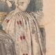 DÉTAILS 05   Gravure de Mode - Paris - 1849 - Le Conseiller des Dames - 169 Rue Montmartre