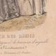 DÉTAILS 08   Gravure de Mode - Paris - 1849 - Le Conseiller des Dames - 169 Rue Montmartre