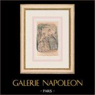 Gravura de Moda - Paris - Août 1848 - Le Conseiller des Dames