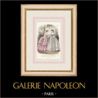 Gravura de Moda - Paris - Août 1855 - Le Conseiller des Dames et des Demoiselles