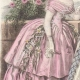 DÉTAILS 02   Gravure de Mode - Paris - Août 1855 - Le Conseiller des Dames et des Demoiselles