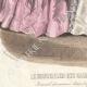 DÉTAILS 03   Gravure de Mode - Paris - Août 1855 - Le Conseiller des Dames et des Demoiselles