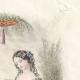 DÉTAILS 04   Gravure de Mode - Paris - Août 1855 - Le Conseiller des Dames et des Demoiselles