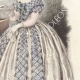 DÉTAILS 05   Gravure de Mode - Paris - Août 1855 - Le Conseiller des Dames et des Demoiselles