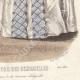 DÉTAILS 06   Gravure de Mode - Paris - Août 1855 - Le Conseiller des Dames et des Demoiselles