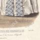DÉTAILS 08   Gravure de Mode - Paris - Août 1855 - Le Conseiller des Dames et des Demoiselles