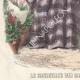 DÉTAILS 03 | Gravure de Mode - Paris - Septembre 1855 - Le Conseiller des Dames et des Demoiselles - 159 Rue Montmartre