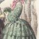 DÉTAILS 05 | Gravure de Mode - Paris - Septembre 1855 - Le Conseiller des Dames et des Demoiselles - 159 Rue Montmartre