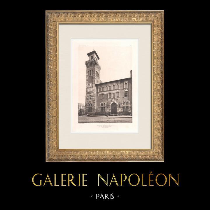 Gravures Anciennes & Dessins   Institut Océanographique de Paris (Henri-Paul Nénot, architecte)   Héliogravure   1911