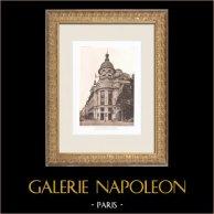 Printemps - Gran almacén en Paris (René Binet) | Heliograbado original según Binet. 1911