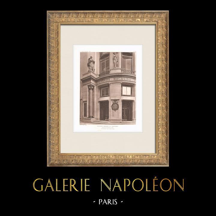 Antique Prints & Drawings | Printemps - Large department store in Paris (René Binet) | Heliogravure | 1911