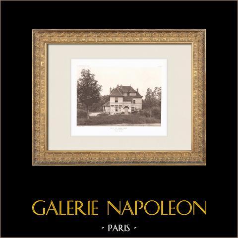 Villa i lieu-dit Franc-Port nära Compiègne - Oise (Louis Sorel) | Original heliogravyr efter Sorel. 1911