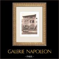 Hôtel particulier à Paris 16ème Arrondissement (M. Auburtin, architecte) | Héliogravure originale d'après Auburtin. 1911