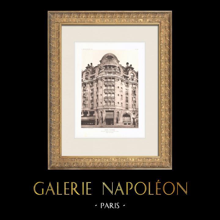 Antique Prints & Drawings   Hôtel Lutetia - Art Nouveau - 6th Arrondissement of Paris (Boileau & Tauzin)   Heliogravure   1911