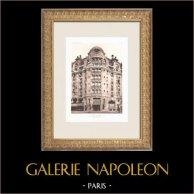 Hôtel Lutetia - Art Nouveau - 6th Arrondissement of Paris (Boileau & Tauzin) | Original heliogravure after Boileau & Tauzin. 1911