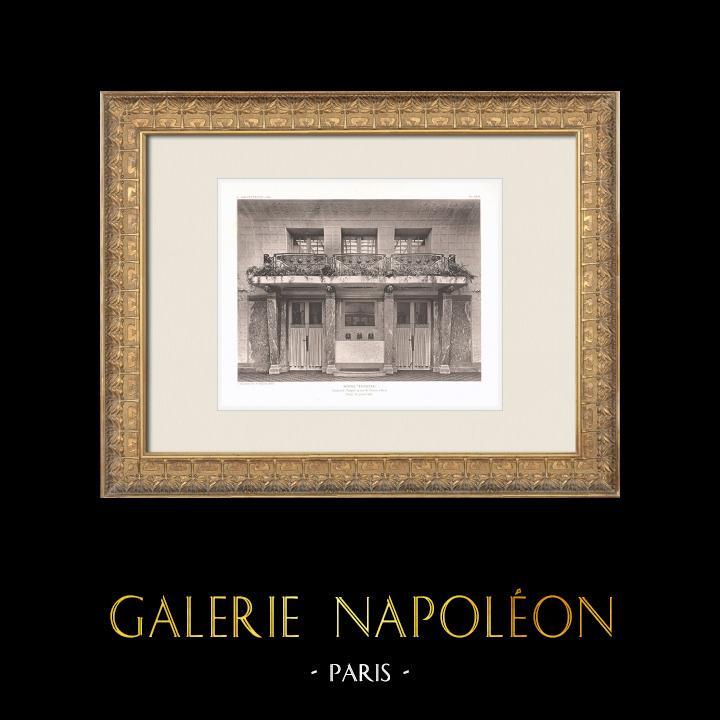 Antique Prints & Drawings | Hôtel Lutetia - Art Nouveau - Hall - 6th Arrondissement of Paris (Boileau & Tauzin) | Heliogravure | 1911