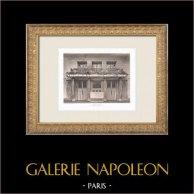 Hôtel Lutetia - Art Nouveau - Hall - 6th Arrondissement of Paris (Boileau & Tauzin) | Original heliogravure. Anonymous. 1911