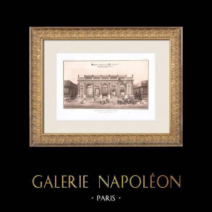 Antique Prints & Drawings | Pavillon La Bouëxière - Folly - 9th Arrondissement of Paris (Le Carpentier) | Heliogravure | 1911