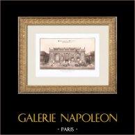 Pavillon La Bouëxière - Folly - IX Distrito de París (Le Carpentier) | Heliograbado original según Le Carpentier. 1911