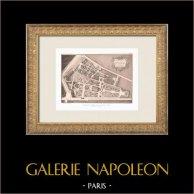 Pavillon La Bouëxière - Folie - Plan - 9ème Arrondissement de Paris (Le Carpentier, architecte) | Héliogravure originale d'après Le Carpentier. 1911