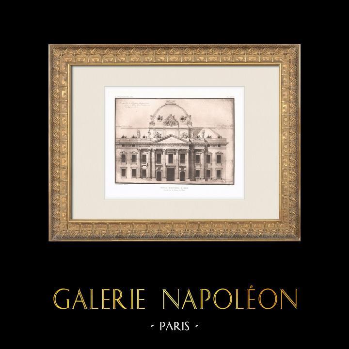 Antique Prints & Drawings | Ecole Militaire - Champ-de-Mars - 7th Arrondissement of Paris (Ange-Jacques Gabriel) | Heliogravure | 1911