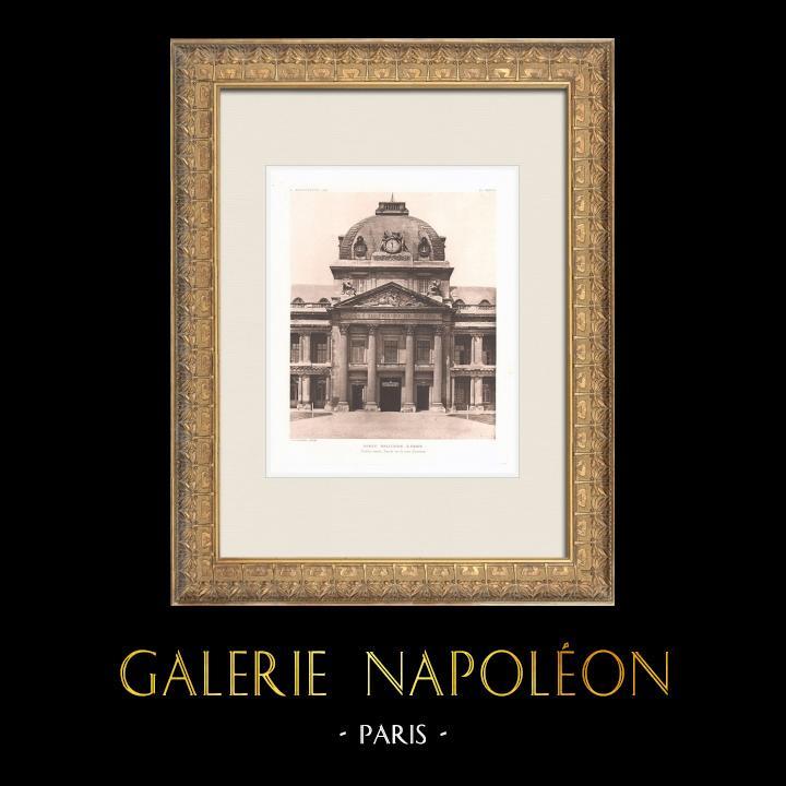 Antique Prints & Drawings   Ecole Militaire - Champ-de-Mars - 7th Arrondissement of Paris (Ange-Jacques Gabriel)   Heliogravure   1911