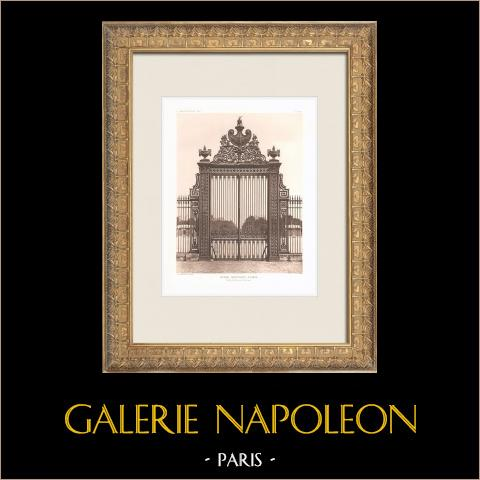 Ecole Militaire - Champ-de-Mars - Paris (Ange-Jacques Gabriel) | Heliogravura original segundo Ange-Jacques Gabriel. 1911