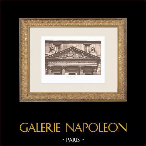 Ecole Militaire - Champ de Mars - Parigi (Ange-Jacques Gabriel) | Heliogravure originale. Anonima. 1911