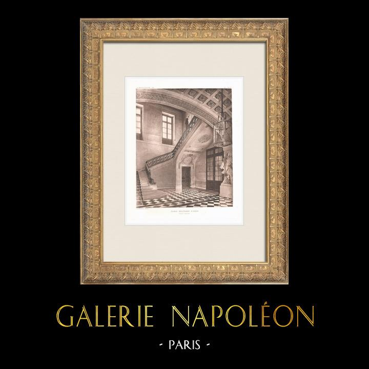 Grabados & Dibujos Antiguos | Ecole Militaire - Champ-de-Mars - Escalera (Ange-Jacques Gabriel) | Heliograbado | 1911