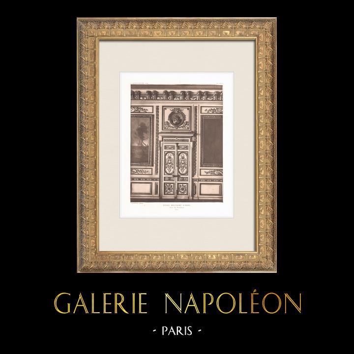 Antique Prints & Drawings   Ecole Militaire - Champ-de-Mars - Door (Ange-Jacques Gabriel)   Heliogravure   1911