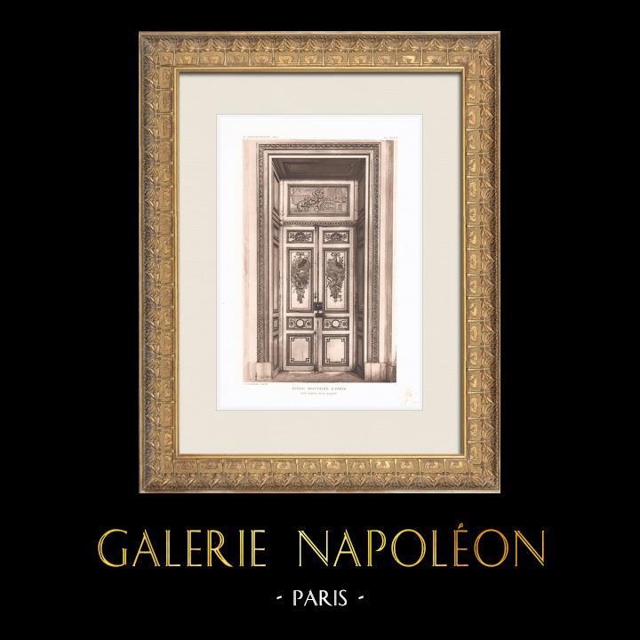 Grabados & Dibujos Antiguos | Ecole Militaire - Champ-de-Mars - Puerta - Capilla (Ange-Jacques Gabriel) | Heliograbado | 1911