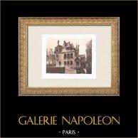 Hôtel particulier - House in Neuilly-sur-Seine - Île-de-France (Charles Plumet) | Original heliogravure after Plumet. 1911