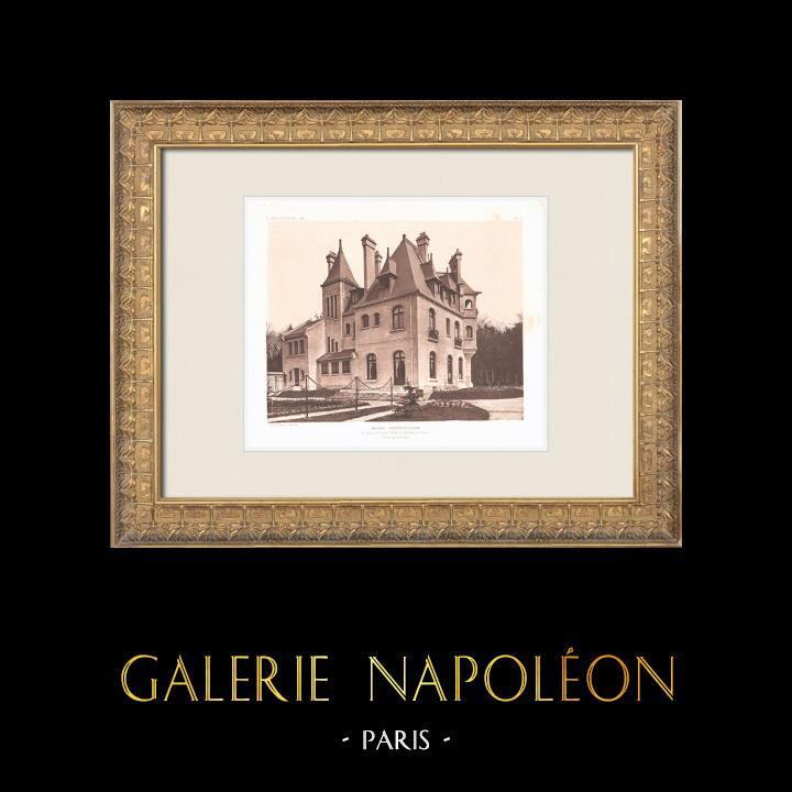 Antique Prints & Drawings | Hôtel particulier - House in Neuilly-sur-Seine - Île-de-France (Charles Plumet) | Heliogravure | 1911
