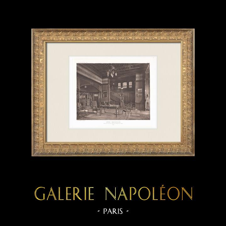 Antique Prints & Drawings | Hôtel particulier - House in Neuilly-sur-Seine - Interior - Île-de-France (Charles Plumet) | Heliogravure | 1911