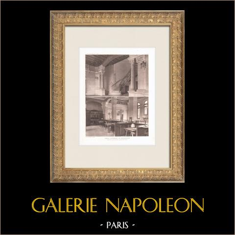 Caisse d'Epargne i Montbrison - Loire (Georges Gaudibert) | Original heliogravyr efter Gaudibert. 1911
