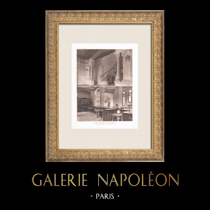 Grabados & Dibujos Antiguos | Caisse d'Epargne de Montbrison - Loire (Georges Gaudibert) | Heliograbado | 1911